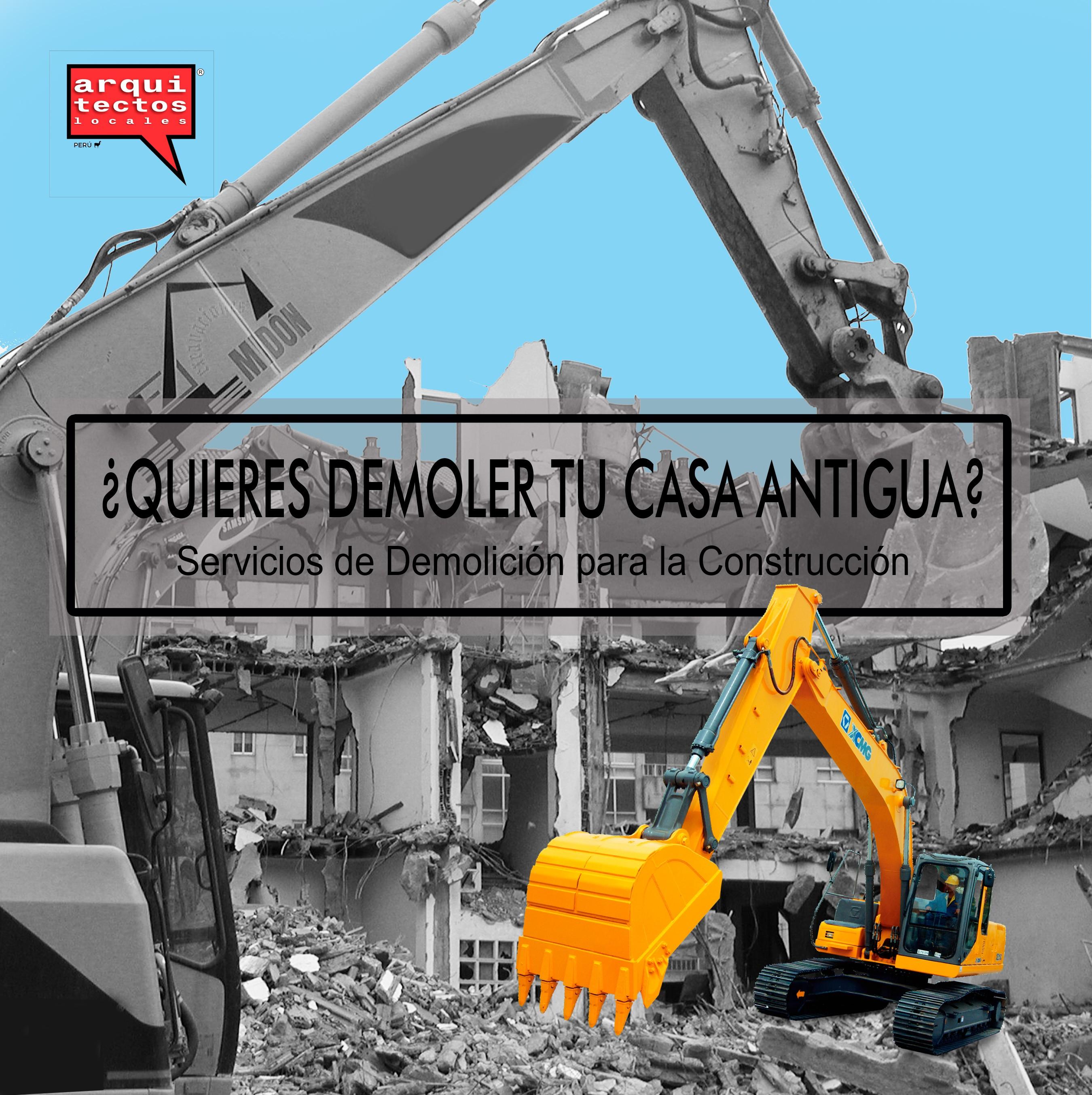 Servicio de Demolición de viviendas